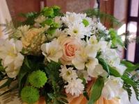 Бяло, нежно зелено и оранжево